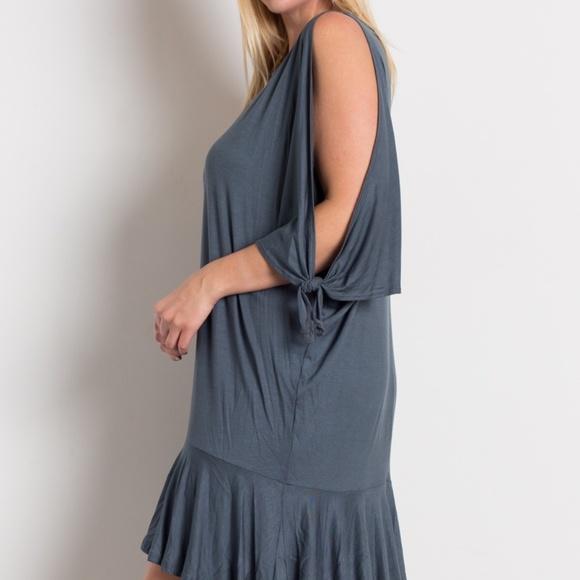cbe2be7f8a8 Plus Size Knit Open Shoulder Dress